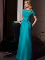 Голубое платье в пол