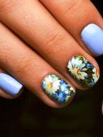 Маникюр с ромашками – яркие идеи для летнего нейл-арта