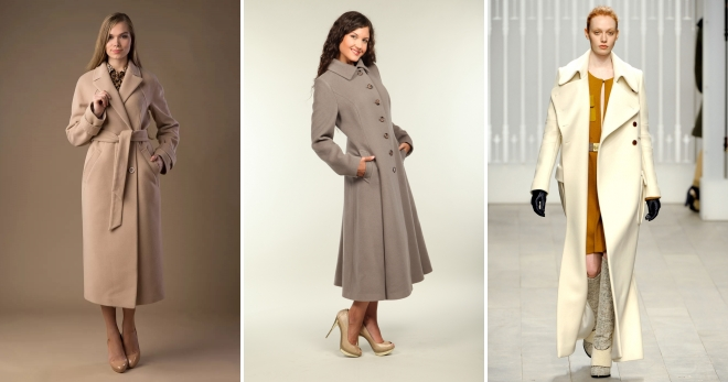 Длинное пальто – отличная основа для создания модного образа