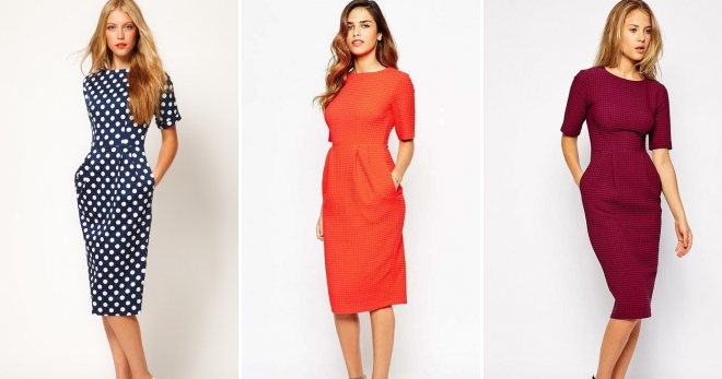 Офисные платья – самые красивые и стильные деловые наряды