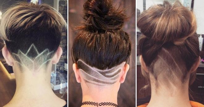 Выбритый затылок у девушек – модный тренд <em>выбритые узоры девушки</em> для самых смелых и креативных