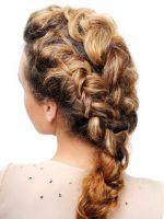 Прически с косами на средние волосы