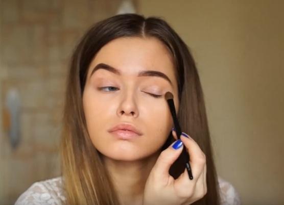 как делать красивый макияж в домашних условиях 9