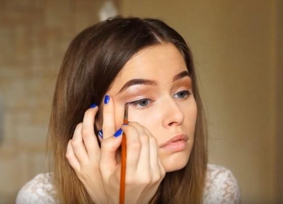 как делать красивый макияж в домашних условиях 12