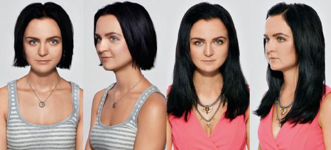 Капсульное наращивание волос на короткие волосы до после