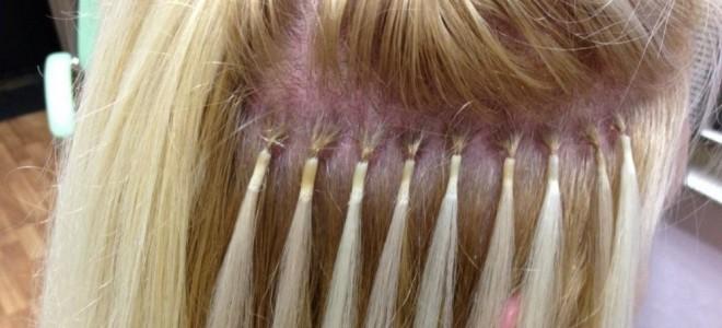Капсульное наращивание волос на короткие волосы вид