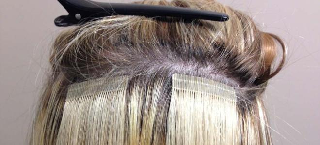 Ленточное наращивание на короткие волосы вид