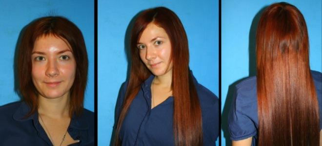 Микрокапсульное наращивание на короткие волосы до после