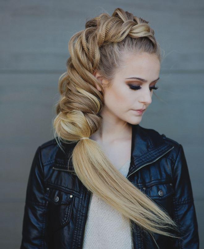Объемная коса колосок2