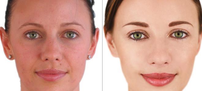 перманентный макияж век фото до и после 2