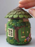 Сказочные домики из банок и полимерной глины