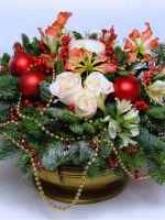 Поделка вместо елки «Новогодний букет»