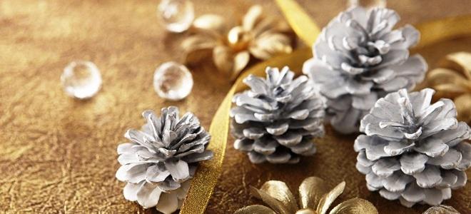 новогодние поделки из шишек своими руками