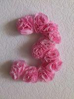 Цифра 3 на день рождения своими руками