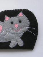 Очечники из фетра с котиком - пошаговый мастер-класс