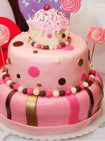 Торт из мастики для девочки