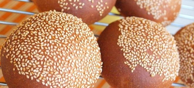 булочки для гамбургеров из цельнозерновой муки