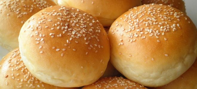 булочки с кунжутом для гамбургеров рецепт