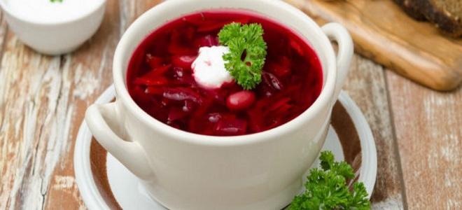 Как варить украинский борщ со свеклой