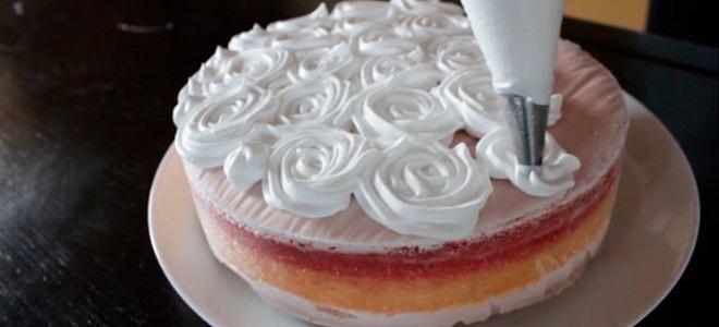 крем из растительных сливок для торта