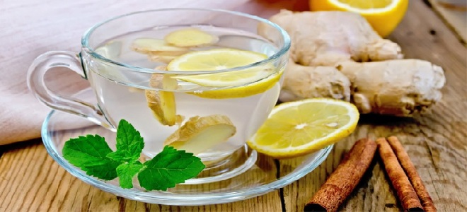 напиток с мятой и лимоном