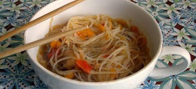 суп с фунчозой корейский