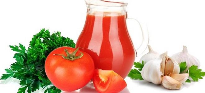 томатный сок с чесноком на зиму