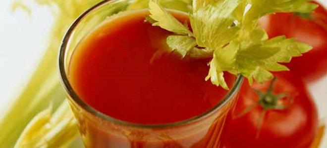 томатный сок с сельдереем на зиму
