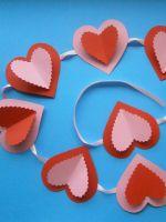 Гирлянда из сердечек своими руками - украшение праздника