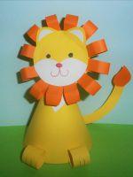 Как сделать льва из бумаги - поделка для детей