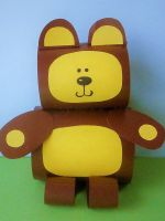 Как сделать медведя из бумаги - объемная поделка для детей