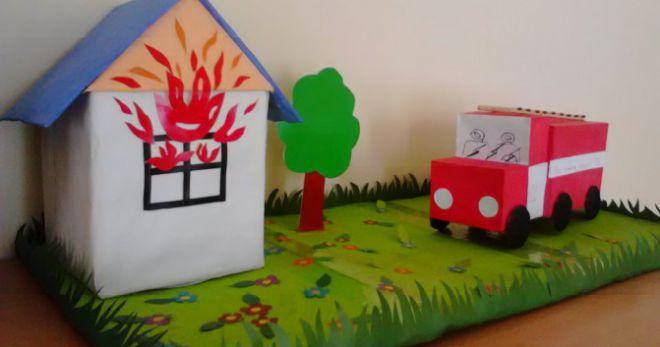 Поделки на тему «Пожарная безопасность» - 55 фото