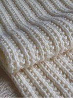 Двухсторонние узоры для шарфов