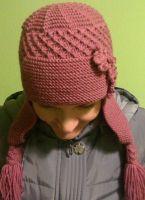 Как связать спицами шапку ушанку