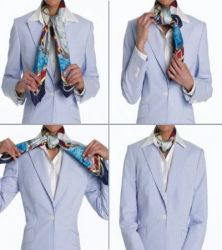 Как носить платок на шее 2