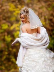 Свадебные накидки на осень