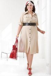 Платье сафари для полных