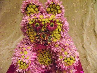 Мишка из цветов4
