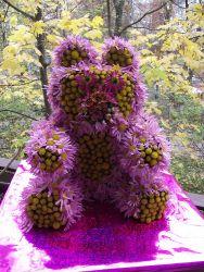 Мишка из цветов5