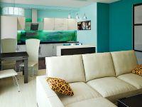 Бирюзовый цвет стен 14