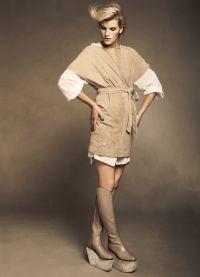 Замшевое платье7