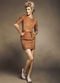 Замшевое платье8