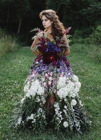 платье из цветов6