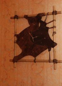 Настенные часы из дерева5