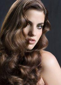 красивые прически с кудрями на длинные волосы 2