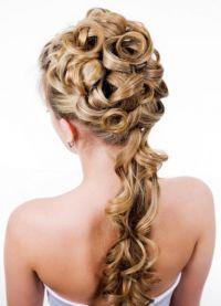 красивые прически с кудрями на длинные волосы 9