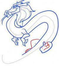 как нарисовать дракона 38