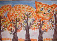 осень рисунки детей красками 3