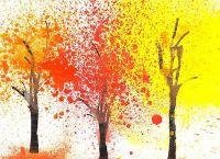 осень рисунки детей красками 4