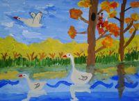 осень рисунки детей красками 7